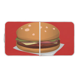 burger beer pong table