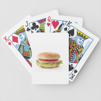 burger bicycle playing cards