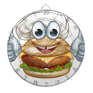 Burger Chef Food Cartoon Character Mascot Dartboard