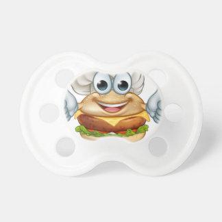 Burger Chef Food Cartoon Character Mascot Dummy