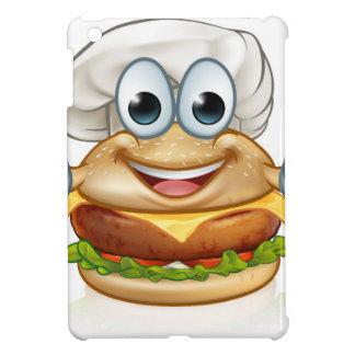 Burger Chef Food Cartoon Character Mascot iPad Mini Case