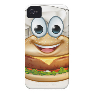 Burger Chef Food Cartoon Character Mascot iPhone 4 Cover