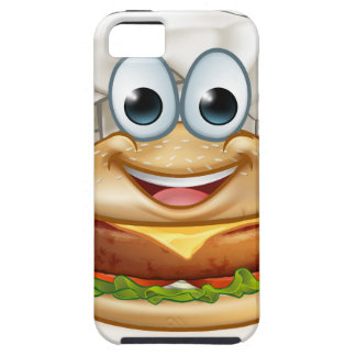 Burger Chef Food Cartoon Character Mascot iPhone 5 Cover