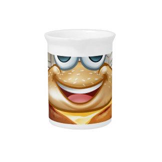 Burger Chef Food Cartoon Character Mascot Pitcher