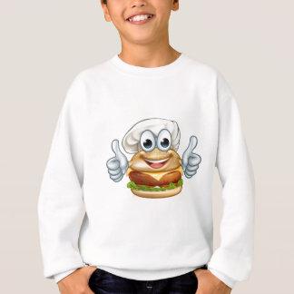 Burger Chef Food Cartoon Character Mascot Sweatshirt