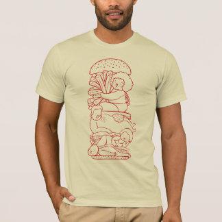 Burger Doodle Art T-Shirt