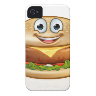 Burger Food Mascot Cartoon Character iPhone 4 Cover