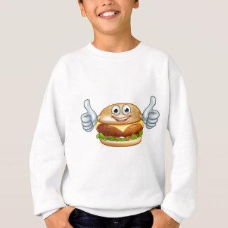 Burger Food Mascot Cartoon Character Sweatshirt