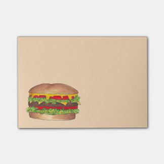 Burger Hamburger Cheeseburger Foodie Food Post Its Post-it Notes