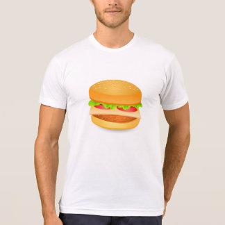 Burger illustration print on t-shirt