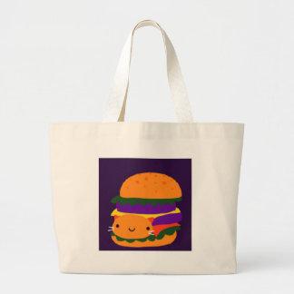 burger large tote bag