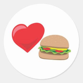 Burger Love!  Customizable: Classic Round Sticker