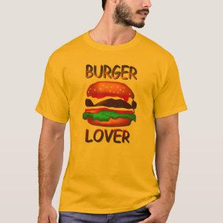 Burger Lover Hamburger Mens Gold T-shirt