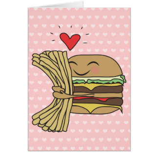 Burger Loves Fries Card