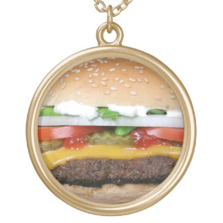 Burger necklace