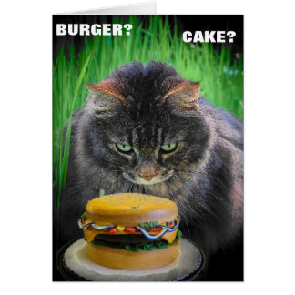 Burger or Cake for your Birthday? Card