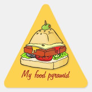 Burger pyramid triangle sticker