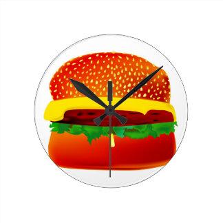 Burger Round Clock