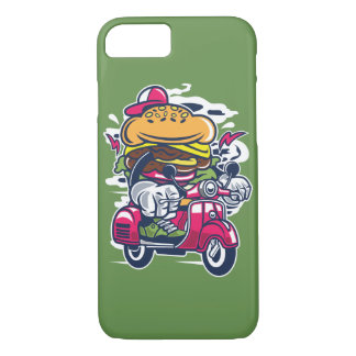 Burger Scooter Glossy Phone Case