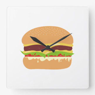 Burger Square Wall Clock