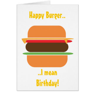 Burger themed Greeting card