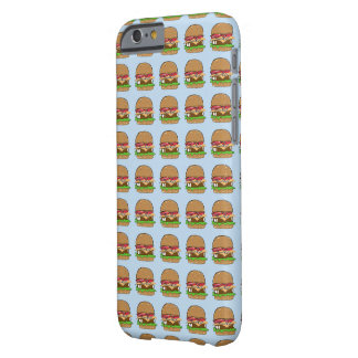 Burger Time on Blue Barely There iPhone 6 Case