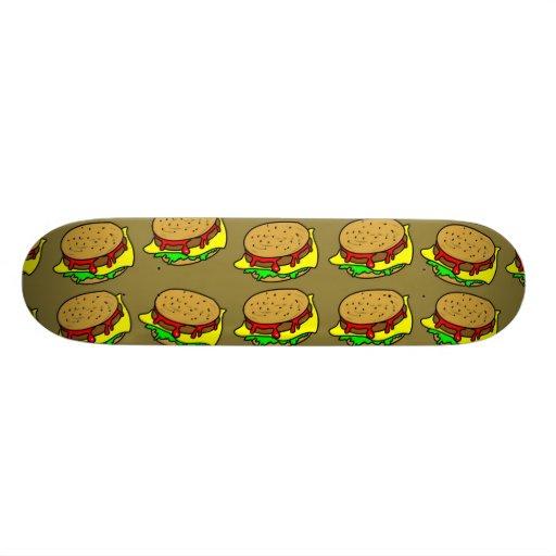 Burger Wallpaper Skateboard