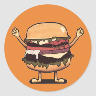 Burger Winner! Classic Round Sticker