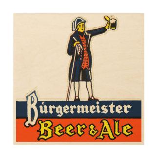 Burgermeister Beer & Ale Wood Wall Art