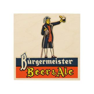 Burgermeister Beer & Ale Wood Wall Decor