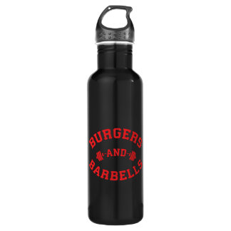 Burgers and Barbells - Lifting Workout Motivation 710 Ml Water Bottle