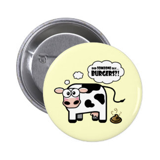 Burgers Funny Cow Button