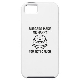 Burgers Make Me Happy iPhone 5 Cases