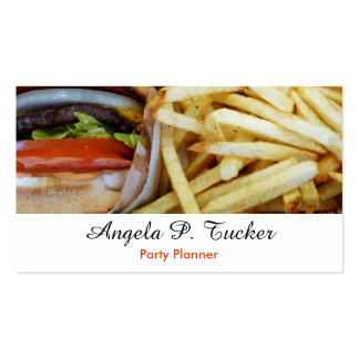 Burgers n Fries Business Card Template