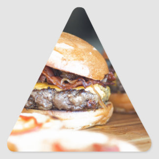 Burgers Triangle Sticker