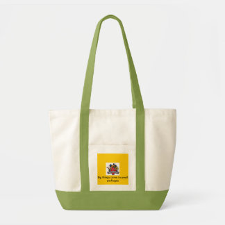 burgerville, Big things come in small packages Canvas Bag