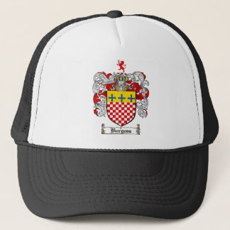 BURGESS FAMILY CREST -  BURGESS COAT OF ARMS TRUCKER HAT
