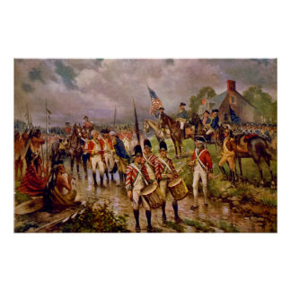 Burgoyne's Surrender at Saratoga by Percy Moran Poster
