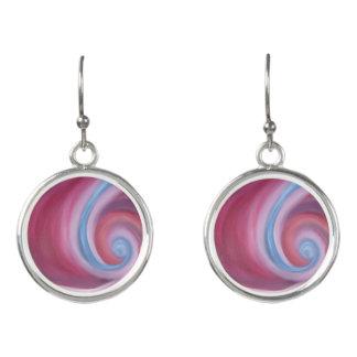 Burgundy and blue earrings