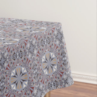 Burgundy and Grey Elegant Pattern Tablecloth