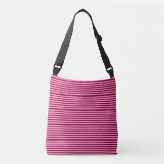 Burgundy and Pink Candy Stripes Crossbody Bag