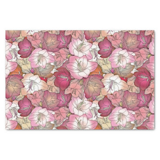 Burgundy and Pink Hibiscus Tissue Paper