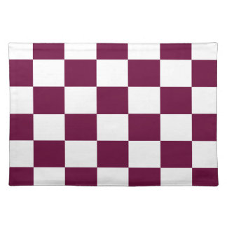 Burgundy and White Checkerboards Placemat