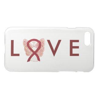 Burgundy Awareness Angel Ribbon iPhone 7 Case