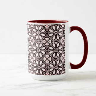 Burgundy Black Lace Ringer Mug
