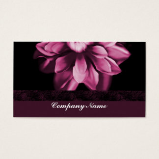 Burgundy Bloom Business Card