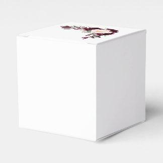 burgundy blush flowers favour box