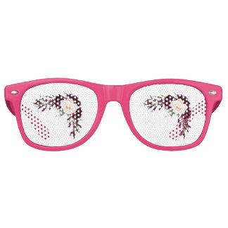 burgundy blush flowers retro sunglasses