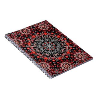 Burgundy Bohemian Burst Spiral Note Book