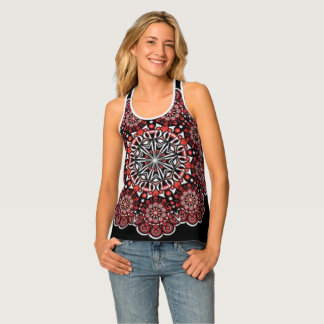 Burgundy Bohemian Burst Tank Top